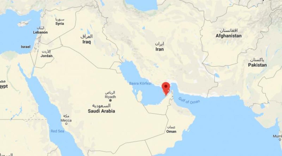Dubai World Map Sijainti Kohteessa Dubai World Kartta