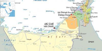 Dubain Kartta Karttoja Dubai Yhdistyneet Arabiemiirikunnat